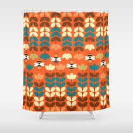 Happy workers Shower Curtain