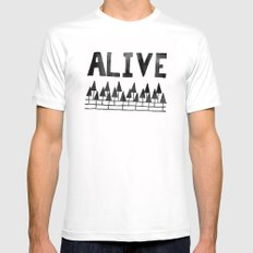 ALIVE Mens Fitted Tee White MEDIUM