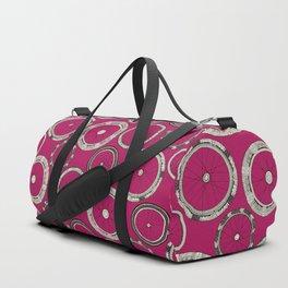 bike wheels pink Duffle Bag