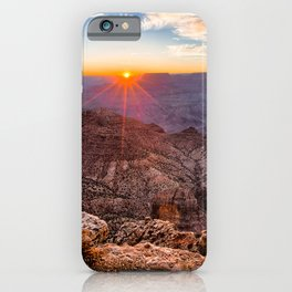 Photo Grand Canyon Park USA Arizona Nature Canyon Mountains Scenery Sunrises and sunsets canyons mountain sunrise and sunset landscape photography iPhone Case