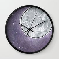 lunar Wall Clocks featuring Lunar by Cody Fisher