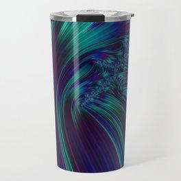CRASH vivid jewel tones of sapphire blue & emerald green Travel Mug