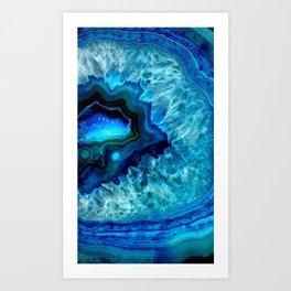 Turquoise Blue Teal Quartz Crystal Kunstdrucke