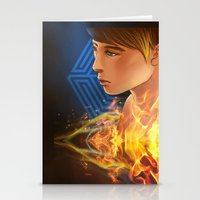 exo Stationery Cards featuring EXO D.O flame by Rei Lydia
