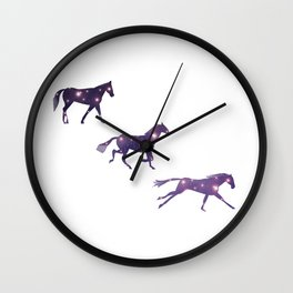 Universe in Running Horse Wall Clock