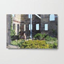 Alcatraz Building Reclaimed by Nature 1 Metal Print