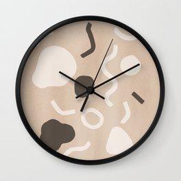 Abstract Confetti Wall Clock