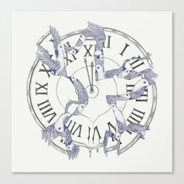 Existence with Time (Time Travelers) Canvas Print