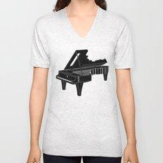 Music Is The Key B Unisex V-Neck
