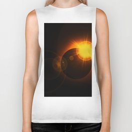 Total  Eclipse Astro Photography Biker Tank