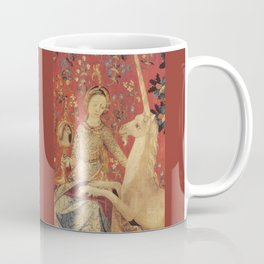 Lady and Unicorn Medieval Tapestry Coffee Mug