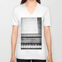 piano V-neck T-shirts featuring Piano by KimberosePhotography