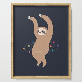 Sloth Galaxy Serving Tray