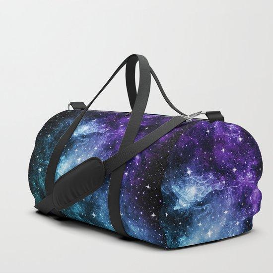 Purple Teal Galaxy Nebula Dream #1 #decor #art #society6 by anitabellajantzart