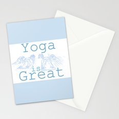 Yoga Is Great : Blues Take Two Stationery Cards