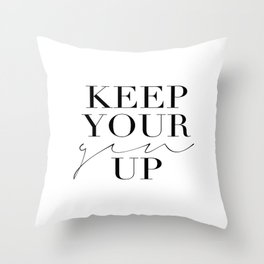 Keep Your Gin Up Print- Wall Art, Wall Prints, Typography Print, Wall Decor, Funny Quote Throw Pillow