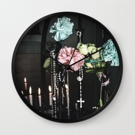 Blooming Memories Wall Clock