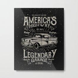 American Highway Star Metal Print
