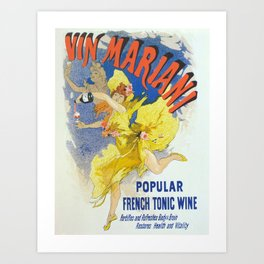 Vintage poster - French Wine Art Print