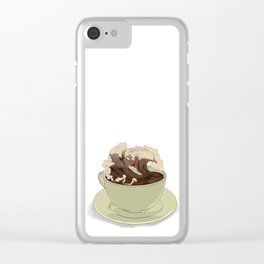 Mocha Surfer Clear iPhone Case