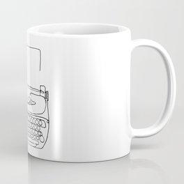 type writer single line drawing Coffee Mug