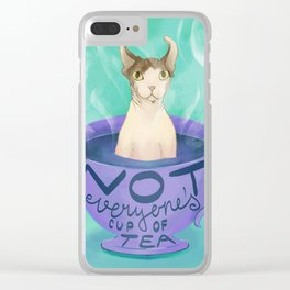 Not Everyone's Cup of Tea - Dobby the Sphynx Elf Clear iPhone Case