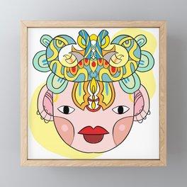 Let's wear a mask Framed Mini Art Print