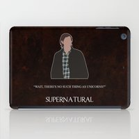 sam winchester iPad Cases featuring Supernatural - Sam Winchester by MacGuffin Designs