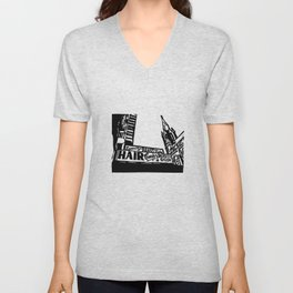 Bushwick Ave Brooklyn Unisex V-Neck