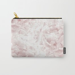 Blush Rose Peonies Dream #1 #floral #decor #art #society6 Carry-All Pouch