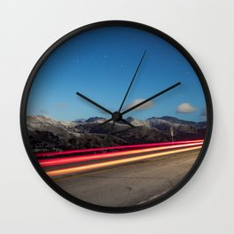 Chasing Light At 10,000 Feet Wall Clock