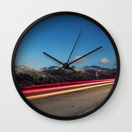 Chasing Light At 10,000 Feet Wall Clock