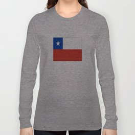 flag of Chile- -Spanish,Chile,chilean,chileno,chilena,Santiago,Valparaiso,Andes,Neruda. Long Sleeve T-shirt