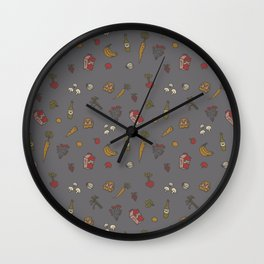 fruits and vegetables II Wall Clock