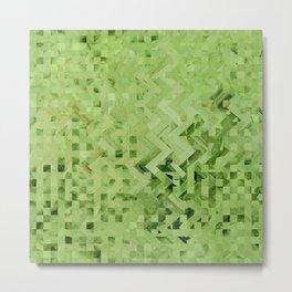 Green galaxy pattern Metal Print