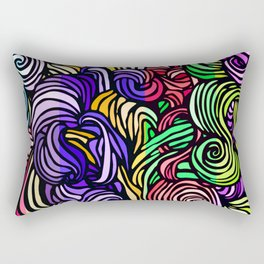 Swirl Design - Mixed Colors Rectangular Pillow