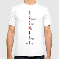 BWR No. 4 Promise (White) Mens Fitted Tee MEDIUM White
