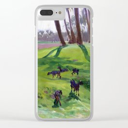 John Singer Sargent Landscape with Goatherd Clear iPhone Case