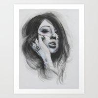 Moko Girl II Art Print