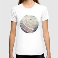 waves T-shirts featuring Ocean Waves Retro by Kurt Rahn