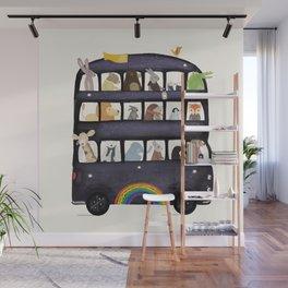 the rainbow bus Wall Mural