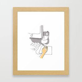 Cat - in a relationship Framed Art Print