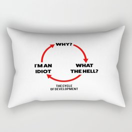 Cycle of development Rectangular Pillow
