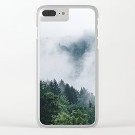 Moody Forest Clear iPhone Case