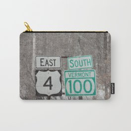 Vermont Street Signs Carry-All Pouch