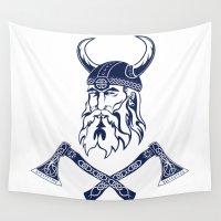 viking Wall Tapestries featuring Viking by Spiro Vasilevski