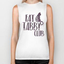 Fat Cat Tabby kitty Biker Tank