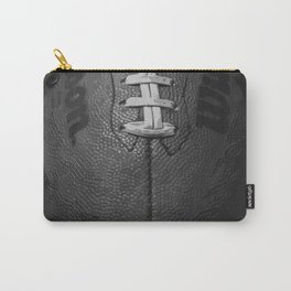 Big American Football - black &white Carry-All Pouch