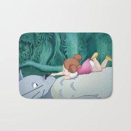 Mei on Totoro's Fluffy Tummy Bath Mat