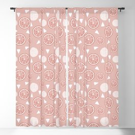Orange and Triangle seamless pattern in Living coral tones, Orange Blossom Pattern Collection Blackout Curtain